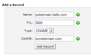 Example C Name record